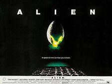 "ALIEN 1979 horror repro cinema quad poster 30x40"" Free P&P Sigourney Weaver"