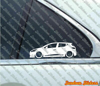 2x Lowered car outline stickers - for Renault Clio IV (2012–present) Mk4