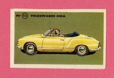 Volkswagen Ghia Vintage 1950s Car Collector Card from Sweden