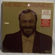 Vintage Best Of Pavarotti Record Album Factory Sealed Bonus Poster Included