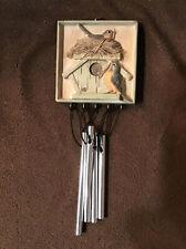 Hallmark Marjolein Bastin Robins & Birdhouse Wind Chime Euc