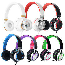 RockPapa Foldable Adults Kids Headphones Headsets f iPod MP3/4 PC iPhone Samsung