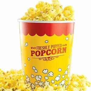 Single Serve 32 Oz Disposable Movie Theatre Popcorn Bucket by Avant Grub