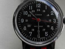 RARE 1966 Timex Sprite 24hr Style Militaire Cadran Noir Montre-British made & Gwo