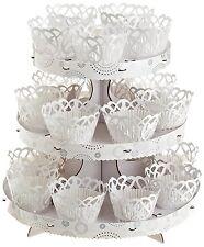 New Wilton Wedding Baby Shower 3 Tier Cupcake Dessert Stand Kit White 1510-1002