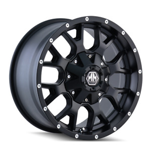 MAYHEM WARRIOR [8015] - 18x9 MATTE BLACK 8015-8937MB18