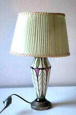 * SUPERBE LAMPE DES ANNEES 30 - 40 AVEC PIED EN PORCELAINE