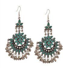 Crunchy Fashion Oxidised Silver Afghani Jewellery Earrings for Women-CFE0910