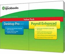 Quickbooks Pro 2017 + Payroll Enhanced Small Business Accounting Value Pack PC