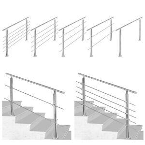 Geländer Treppengeländer 0-5 Querstäbe Edelstahl Handlauf Stabgeländer Pfosten