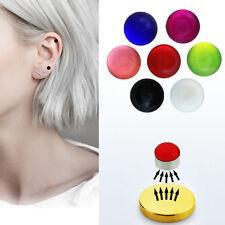 1-4PC Set 3mm Fake Magnet UV Color Nose Ear Lip Stud Illusion Non Piercing Ball
