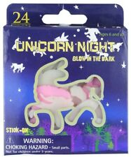 Glow in the Dark Unicorns Stickers Ceiling Wall Room Decor Kids Party Bag Filler