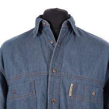 Vintage Miller & Simons Denim Camisa | Vaquero Occidental retro lavado de Jean de botón
