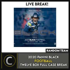 2020 Caja de 12 de fútbol PANINI BLACK (Completo Funda) romper #F526 - equipos al azar