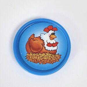 Fisher Price Barnyard Bingo Replacement Blue Chicken Hen Coin 1994