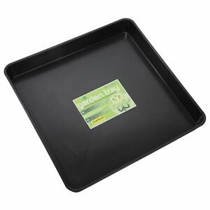 Garland Square Garden Tray Plant Pot Watering Spill Growbag Seed Black Plastic