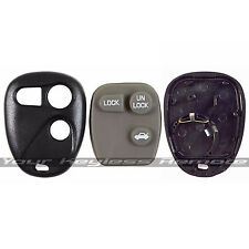 New Remote Keyless Entry Case Shell And Rubber Pad For GM Chevy Buick Pontiac