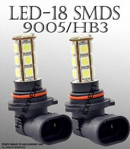 9005 HB3 18 SMD White LED Headlight High Beam / Day time running Light Bulbs N14