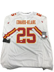 Clyde edwards-helaire signed Kansas city chiefs jersey beckett coa no card