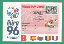 FOOTBALL  -   STAMP  COVER  ENVELOPE  FOR  EURO  96  -  MATCH  NO.  20  -  1996