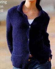 Knitting Pattern Lady's Moss Stitch Aran Weight Jacket 81-107 cm  (62)