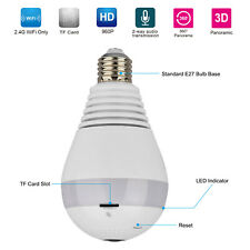 Mini Security IP Camera 360° Panoramic SPY Hidden 960P Wifi Wireless Light Bulb