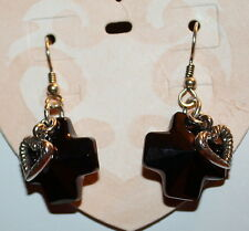 "Brighton ""Karma Cross"" earrings NWT"
