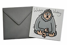 NEW BIRTHDAY CARD: Mens 'SLOTH', Grey envelope!
