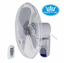 """Prem-I-Air 16"""" (40 cm) Home Office Wall Desk Fan with Remote Control and Timer"""