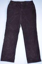 New Women's Brown Straight Leg Velvet Corduroy Stretch Jean Pants size 8