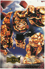 Marvel Metal Prints Fleer Thing NM 1995 Large Promo Card