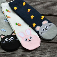 Casual Cotton Socks Design Colorful Fashion Womens Cartoon Cat Animal Footprint