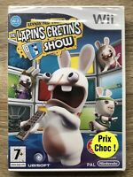 Nintendo Wii The Lapins Cretins Show Brand New Rayman PAL French Sealed Rare