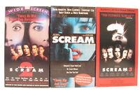 Scream Scream 2 Scream 3 Neve Campbell Courtney Cox Wes Craven 3 VHS Tape Set