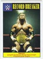 2016 Topps WWE Heritage Wrestling Record Breakers Insert #6 Triple H