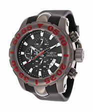 Invicta Mens TI-22 Analog Chronograph 52mm Quartz Black Polyurethane Watch 20466