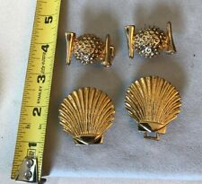 Vintage Belt Buckle Clips Jewelry Mixed Lot 2 Sets