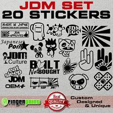 JDM DECAL SET sticker vinyl stickerbomb illest hella stance low life honda japan