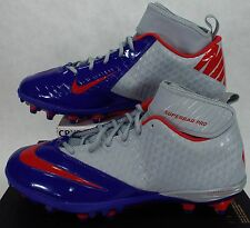 New Mens 14 NIKE Lunarlon Superbad England Patriots Cleats Shoes $105 534994-021