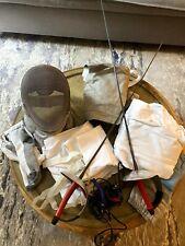Fencing Gear!-mask, foils, jacket, pants, R glove, socks, body cords for kid