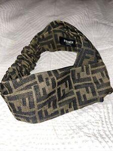 Fendi Zucca Logo Headband