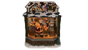 Kirkland Signature Water Window Santa's Workshop Lights Up & Musical See Video