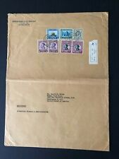 Middle East Jordan Large comm. cover with value to 1 dnar - King Abdullah