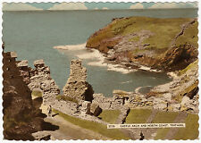 POSTCARD CORNWALL. CASTLE ARCH AND NORTH COAST, TINTAGEL. POSTED