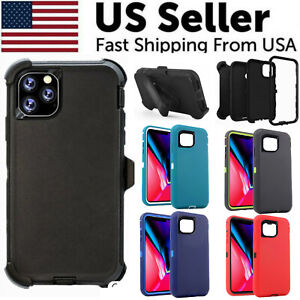 For Apple iPhone 12 Pro 12 Mini Case Cover Defender with Belt Clip Fits Otterbox