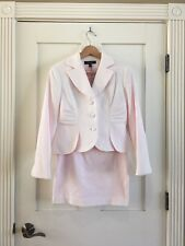 NWT Prague Pink White Skirt Suit Size 4 Petite