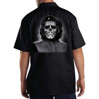 Dickies Black Mechanic Work Shirt Che Guevara Sugar Skull Day Of The Dead