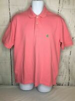 Brooks Brothers Men's Short Sleeve Polo Shirt  Pink