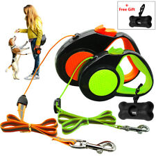 Retractable Dog Leash Safety Reflective Extendable Small Medium Large Dog Leads
