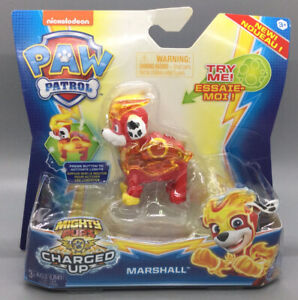 Nickelodeon Paw Patrol - Mighty Pups - Charged Up - Marshall - New